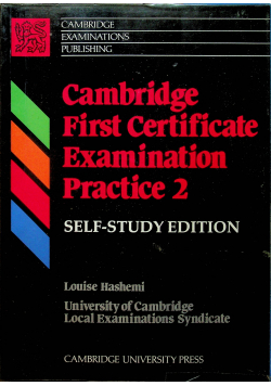 Cambridge First Certificate Examination Practice 2