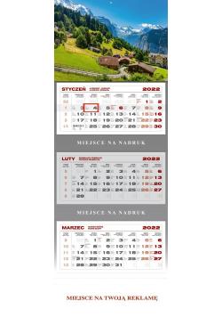 Kalendarz trójdzielny Góry
