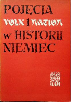 Pojęcia volk i nation w historii Niemiec