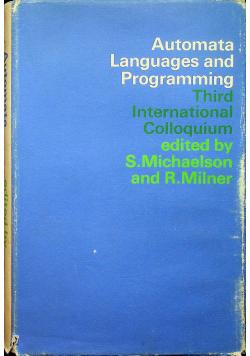 Automata languages and programing third international colloquium