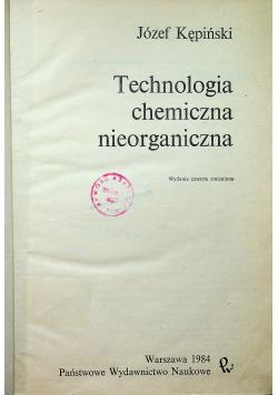 Technologia chemiczna nieorganiczna