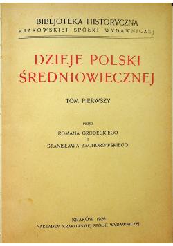 Dzieje Polski Średniowiecznej 1926 r.