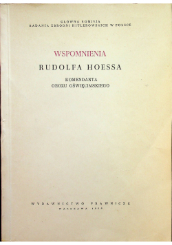 Wspomnienia Rudolfa Hoessa