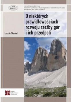 O niektórych prawidłowościach rozwoju rzeźby gór i ich przedpoli