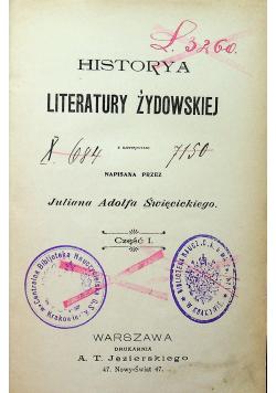 Historya literatury żydowskiej część 1 1902r