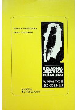 Składnia języka polskiego w praktyce szkolnej