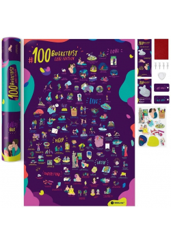 Mapa zdrapka - #100 Bucketlist Love Edition