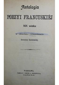 Antologia Poezyi francuskiej XIX wieku