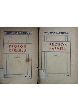 Prorok Karmelu 2 tomy 1938 r.