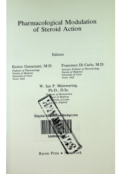 Pharmacological Modulation of Steroid Action