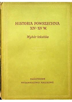 Historia powszechna XIV XV w