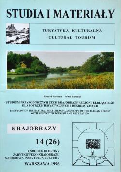 Studium przyrodniczych cech krajobrazu regionu  Elbląskiego dla potrzeb turystycznych i rekreacyjnych