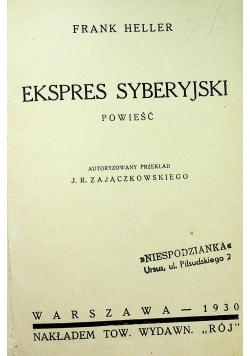 Ekspres Syberyjski 1930r / Finanse Wielkiego Księcia