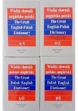 Wielki słownik polsko angielski 4 tomy