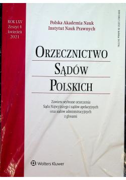 Orzecznictwo Sądów Polskich Rok LXV Zeszyt 4