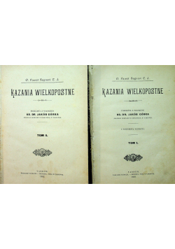Kazania Wielkopostne 2 tomy 1902 r.