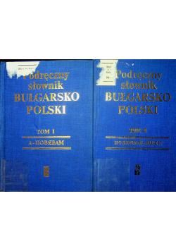 Podręczny słownik Bułgarsko Polski Tom I i II