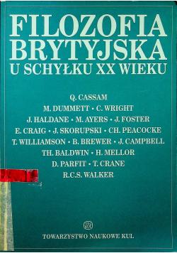 Filozofia brytyjska u schyłku XX wieku