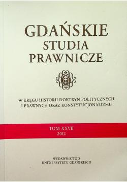 Gdańskie studia prawnicze Tom XXVII