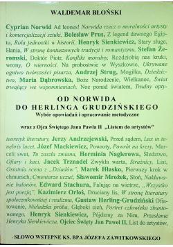 Od Norwida do Herlinga Grudzińskiego