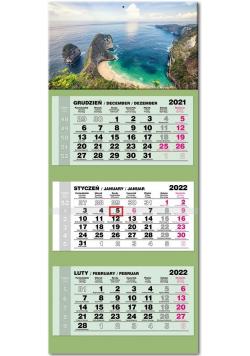 Kalendarz 2022 trójdzielny lux Zatoka