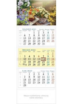 Kalendarz 2022 trójdzielny KT 11 Kwiaty