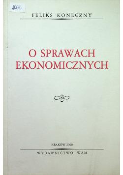 O sprawach ekonomicznych