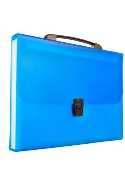 Teczka harmonijkowa z rączką A4 niebieska BT623-N