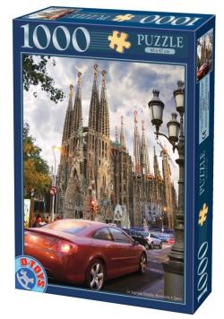 Puzzle 1000 Hiszpania, Barcelona- Sagrada Familia