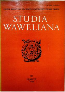 Studia Waweliana III