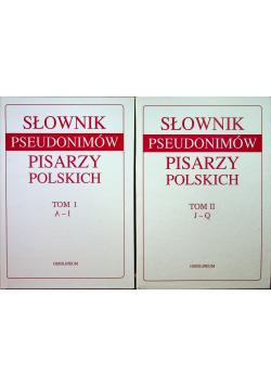 Słownik pseudonimów pisarzy polskich 2 tomy