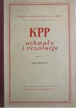 KPP uchwały i rezolucje tom I