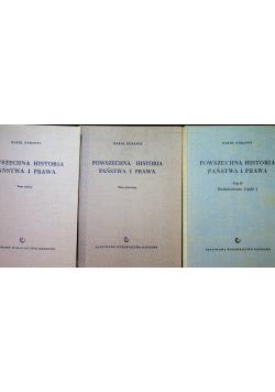 Powszechna historia państwa i prawa tom od I do III