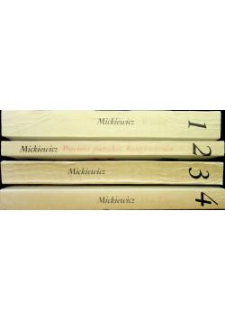 Mickiewicz dzieła poetyckie 4 tomy