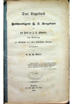 Das Tagebuch 1849 r.