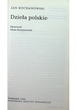 Kochanowski Dzieła polskie