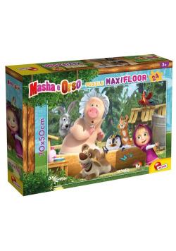Puzzle Maxi 24 podłogowe Masza i Niedźwiedź