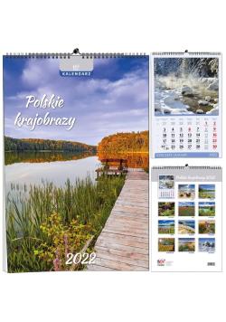 Kalendarz 2022 B3 13 plansz Polskie krajobrazy