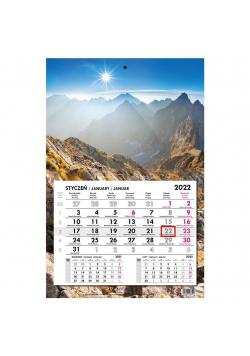 Kalendarz 2022 jednodzielny główka płaska Tatry