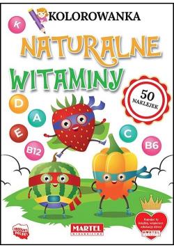 Kolorowanka z naklejkami Naturalne witaminy
