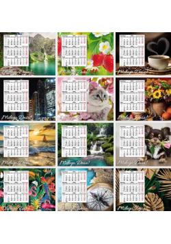 Kalendarz 2022 biurkowy trójdzielny mini MIX