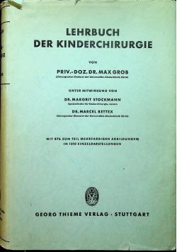 Lehrbuch der kinderchirurgie
