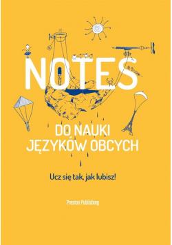 Notes do nauki języków obcych pomarańczowy
