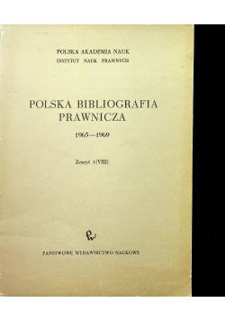 Polska Bibliografia Prawnicza 1965 1969 Zeszyt 1