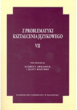 Z problematyki kształcenia językowego VII
