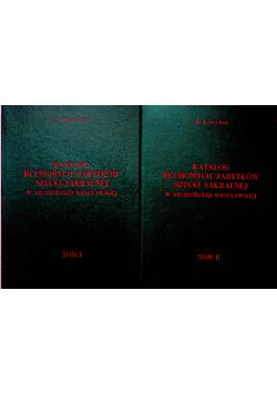 Katalog ruchomych zabytków sztuki sakralnej Tom I i II