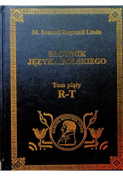 Słownik Języka Polskiego Tom 5 reprint z  1859 r