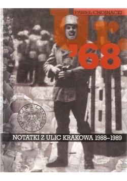 Ur 68 Notatki z ulic Krakowa 1988-1989