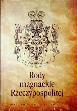 Rody magnackie Rzeczypospolitej