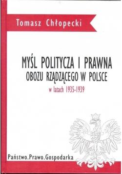 Myśl polityczna i prawna obozu rządzącego w Polsce w latach 1935-1939